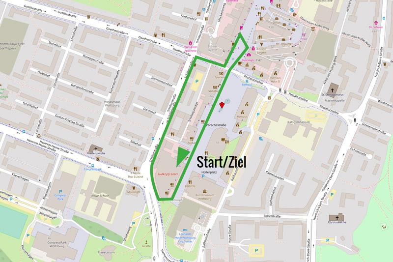 Wolfsburg Marathon Strecke 1km