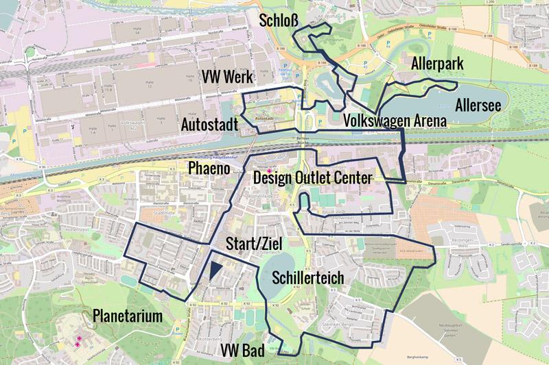 Wolfsburg Marathon Strecke 21 & 42km