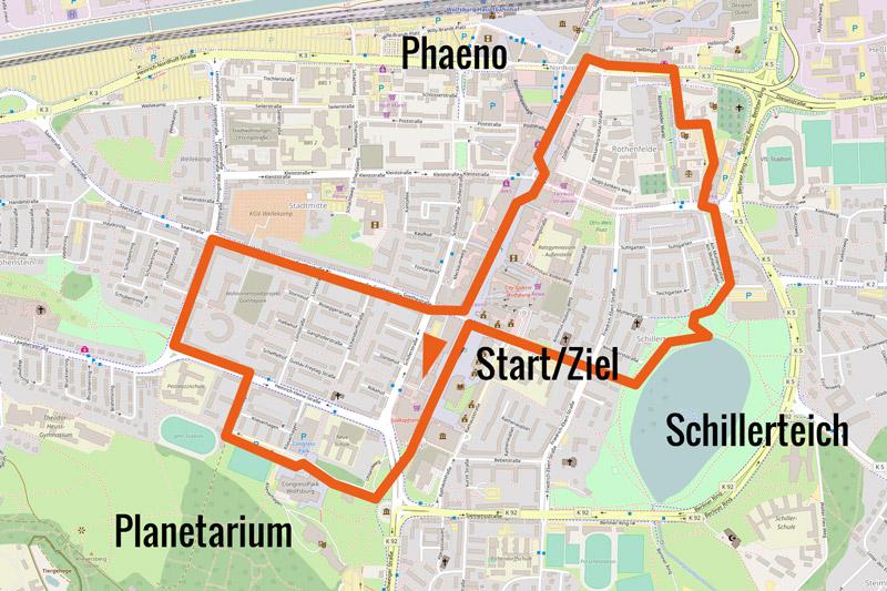 Wolfsburg Marathon Strecke 5 & 10km